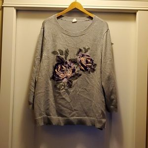 D/ C Jeans - Crew Neck Sweater w Embroidered 3X